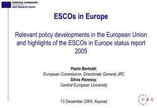 ESCOs in Europe