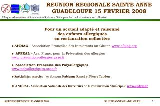 REUNION REGIONALE SAINTE ANNE GUADELOUPE 15 FEVRIER 2008