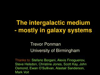The intergalactic medium