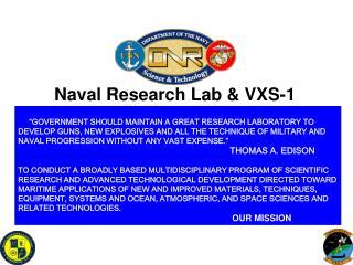Naval Research Lab & VXS-1