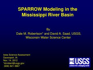 SPARROW Modeling in the  Mississippi River Basin