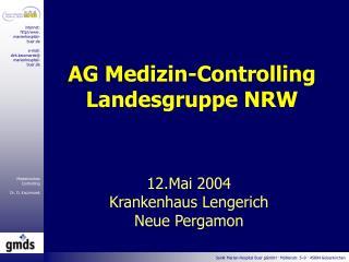 AG Medizin-Controlling Landesgruppe NRW