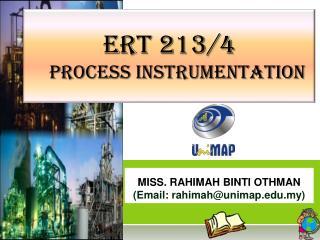 ERT 213/4 Process instrumentation