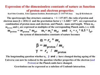 Textbooks give as  basic constants of physics (in the kg m s System):