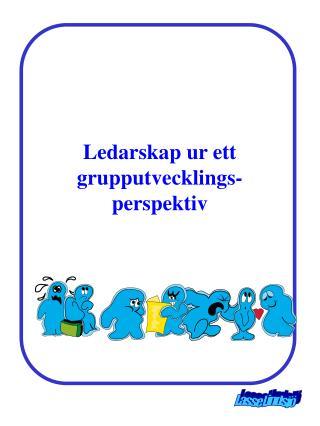 Ledarskap ur ett grupputvecklings-perspektiv
