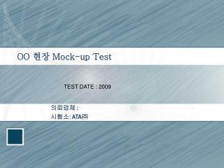 OO  현장  Mock-up Test