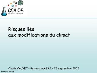 Risques li�s aux modifications du climat