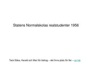 Statens Normalskolas realstudenter 1956