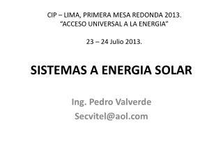 SISTEMAS A ENERGIA SOLAR