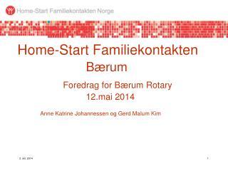 Hva er Home-Start Familiekontakten (HSF)?