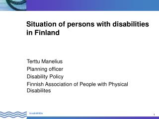 Situation of persons with disabilities in Finland
