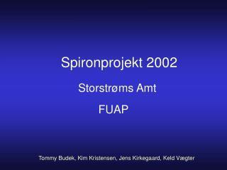 Spironprojekt 2002