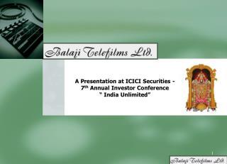 A Presentation at ICICI Securities -