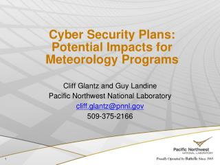 Cyber Security Plans: Potential Impacts for Meteorology Programs