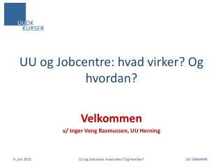 UU og Jobcentre: hvad virker? Og hvordan?
