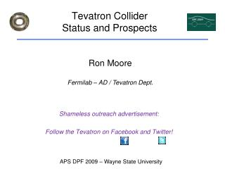 Tevatron Collider Status and Prospects