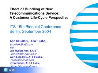 Effect of Bundling of New Telecommunications Service: A Customer Life-Cycle Perspective