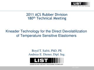 2011 ACS Rubber Division 180 th  Technical Meeting