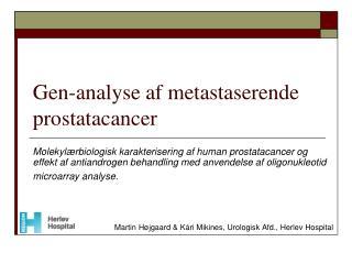 Gen-analyse af metastaserende prostatacancer
