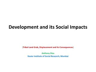Development and its Social Impacts