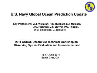 U.S. Navy Global Ocean Prediction Update