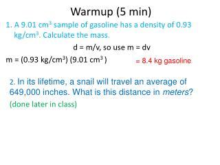 Warmup (5 min)
