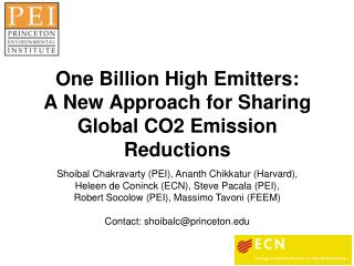 One Billion High Emitters: A New Approach for Sharing Global CO2 Emission Reductions