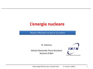L'energia nucleare
