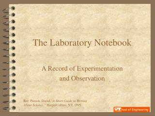 The Laboratory Notebook