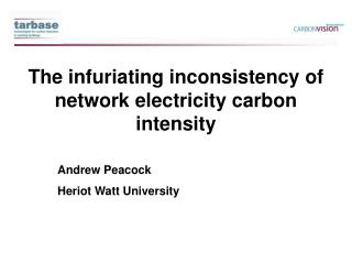 The infuriating inconsistency of network electricity carbon intensity