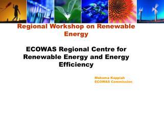 Regional Workshop on Renewable Energy