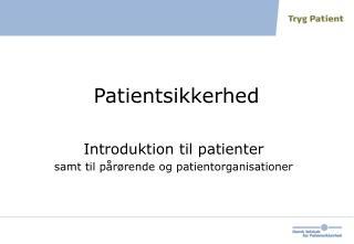 Patientsikkerhed