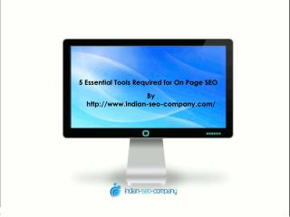 5 Essential Tools Required for On Page SEO