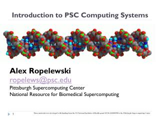 Introduction to PSC Computing Systems