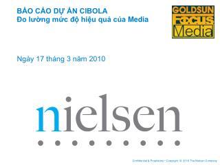 BÁO CÁO DỰ ÁN CIBOLA  Đo lường mức độ hiệu quả của  Media