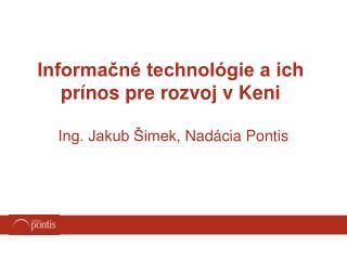 Informačné technológie aich prínos pre rozvoj vKeni