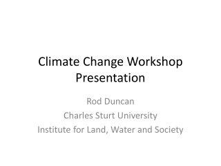 Policy Change Workshop