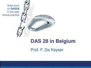DAS 28 in Belgium