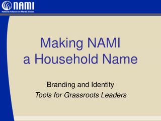 Making NAMI a Household Name