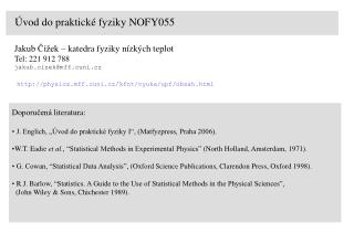 Úvod do praktické fyziky NOFY055