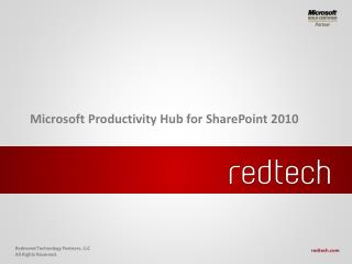 Microsoft Productivity Hub for SharePoint 2010