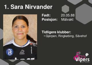 1. Sara Nirvander