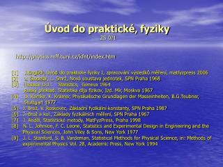 Úvod do praktické' fyziky ZS 0/1
