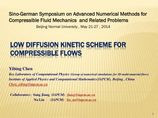 Low Diffusion Kinetic Scheme For Compressible Flows