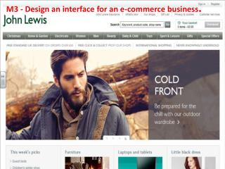 M3  - Design an interface for an e-commerce business .