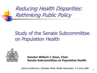 Reducing Health Disparities: Rethinking Public Policy