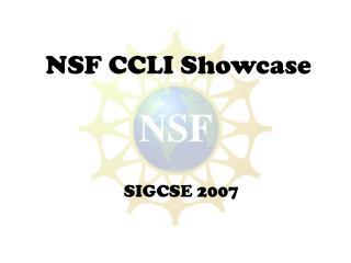 NSF CCLI Showcase