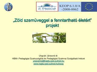 """""""Zöld szemüveggel a fenntartható életért"""" projekt"""