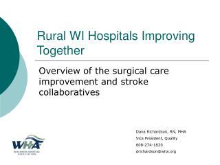 Rural WI Hospitals Improving Together