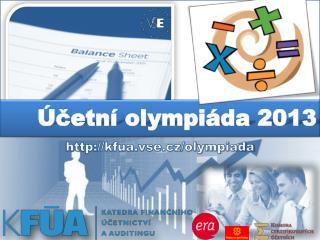 Účetní olympiáda 2013